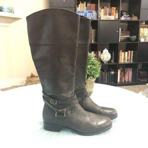 Ralph Lauren Savion Dark Brown Leather Riding Boot